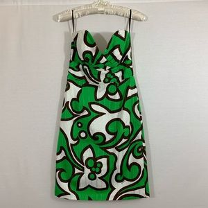 MillG: Green And Brown Patterned Mini Dress